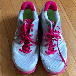 Grey and Pink Nike Lunarglide 2